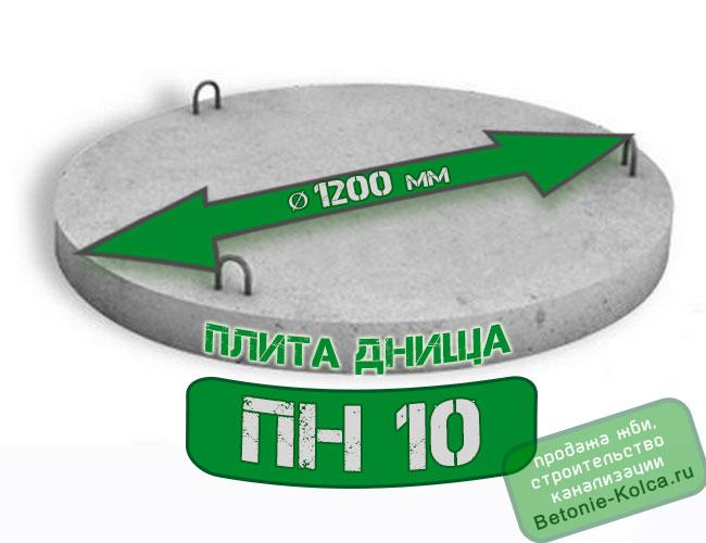 Плита днища колодца ПН10 без замка