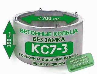 Бетонные кольца горловины КС7-3