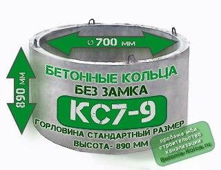 Бетонные кольца горловины КС7-9